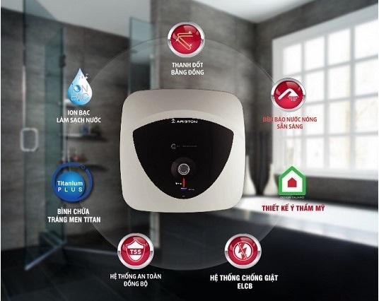 Andris Lux là sản phẩm bình nóng lạnh có nhiều công nghệ mới nhất của Ariston