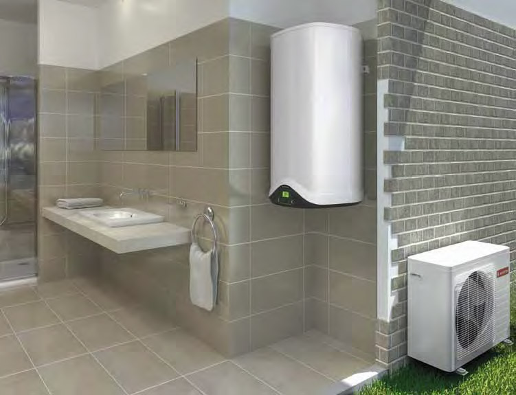 Bình nước nóng bơm nhiệt treo tường NUOS EVO 80-110 tiết kiệm điện